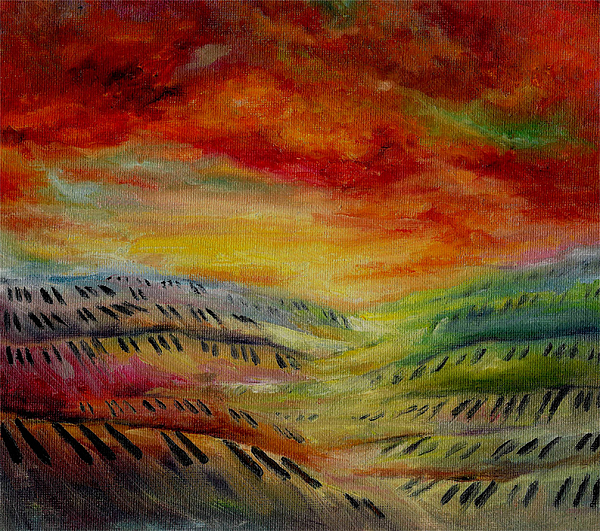 Surreal Music Painting - Piano Key Dusk by Stephanie Cox