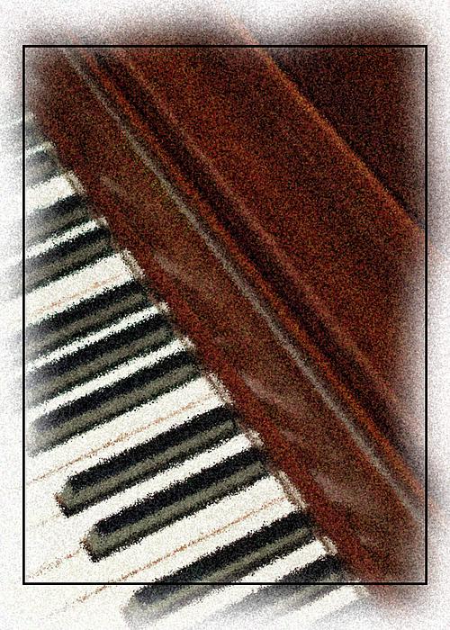 Piano Photograph - Piano Keys by Carolyn Marshall