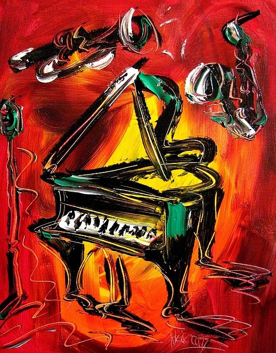 Piano Painting by Mark Kazav