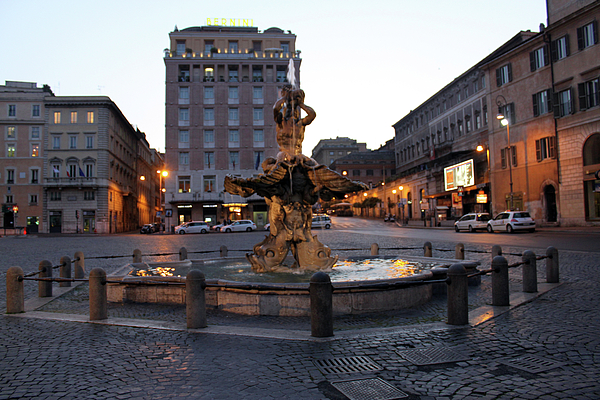 Piazza Photograph - Piazza At Night by Munir Alawi