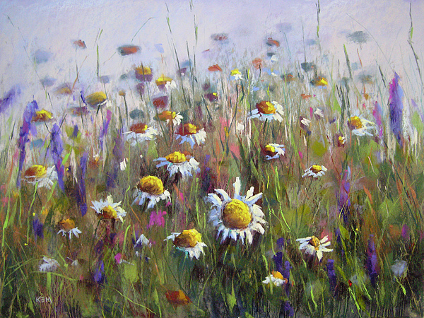 Daisies Painting - Pick Me A Bouquet by Karen Margulis