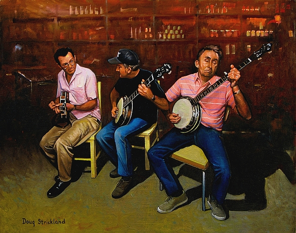 Music Painting - Pickers by Doug Strickland
