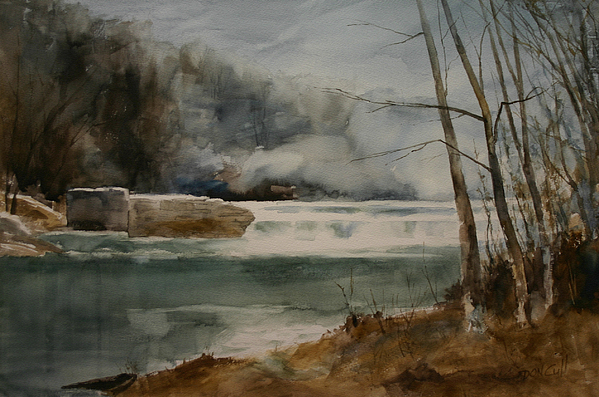 Landscape Painting - Picketts Dam by Don Cull