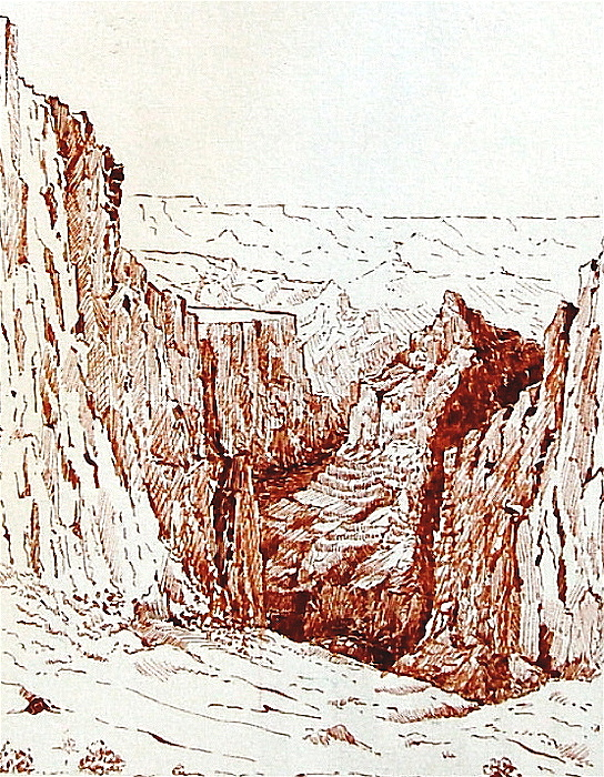 Desert Drawing - Picturing A Canyon by Smart Healthy Life