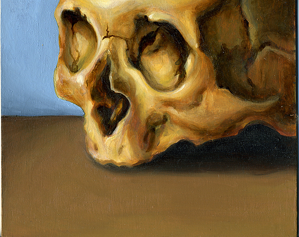Skull Painting - Pieters Skull by Kristine Mobley