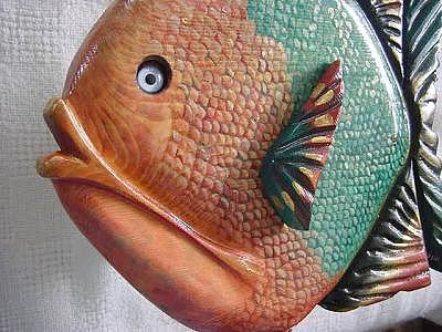 Hand Drawn & Painted Scales Painting - Pigeon Key Fish- Sold by Lisa Ruggiero