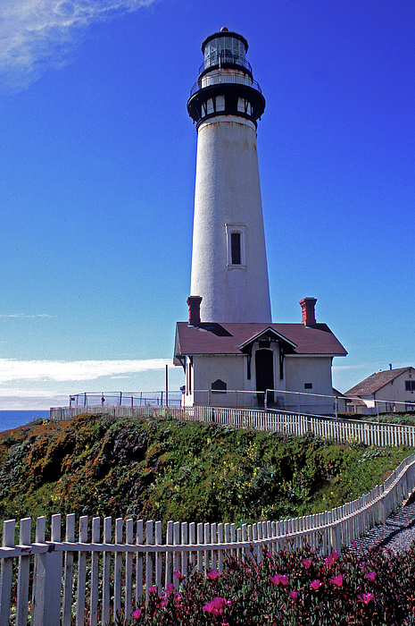 Lighthouse Photograph - Pigeon Point Lighthouse 3 by Kathy Yates