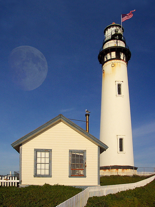 Lighthouse Photograph - Pigeon Point Lighthouse by Wingsdomain Art and Photography