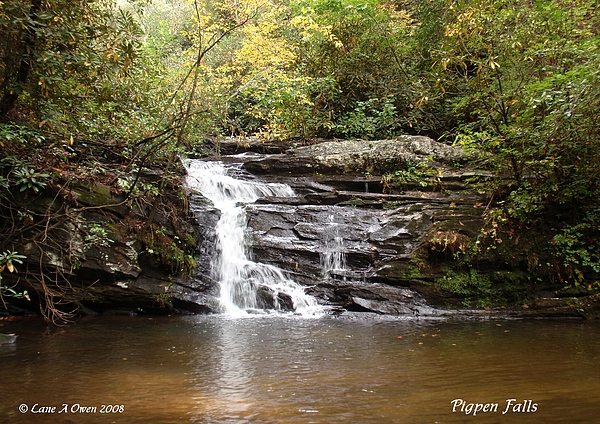 Waterfalls Photograph - Pigpen Falls Oconee County Sc by Lane Owen