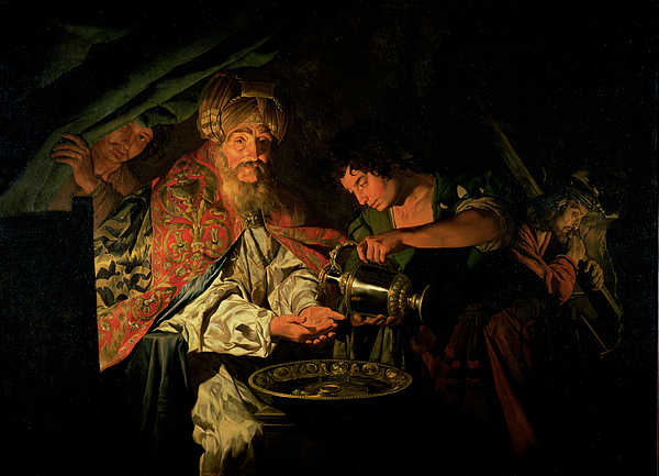 Matthias Painting - Pilate Washing His Hands by Stomer Matthias