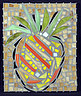 Pineapple Glass Art - Pineapple I by Diane Morizio