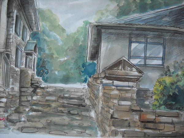 Landscape Painting - Pinggiran IIi by Aizam Solihin