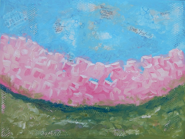 Whimsical Painting - Pink Boxwoods by Sue Furrow