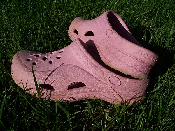 Shoes Photograph - Pink Clogs by Emily Kelley
