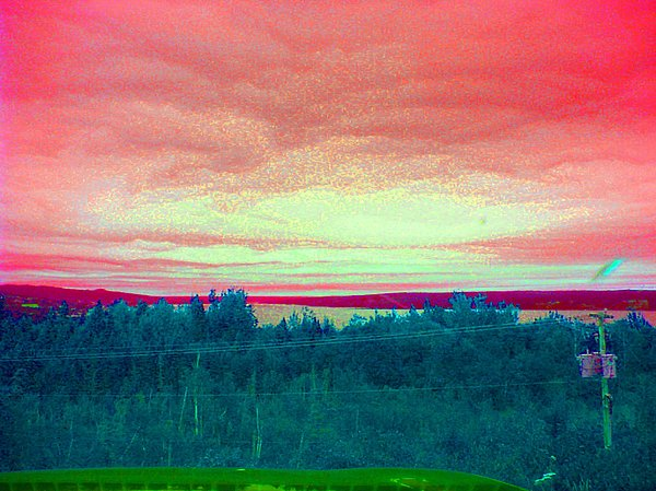 Nature Photograph - Pink Clouds by Allison Prior