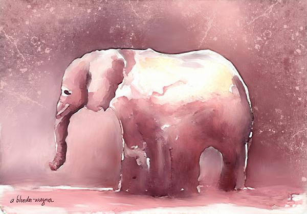 Pink Elephant Digital Art by Arline Wagner