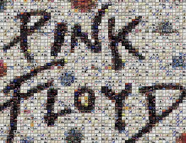 Pink Floyd Mixed Media - Pink Floyd Albums Mosaic by Paul Van Scott