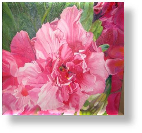 Pink Harmony Painting by Ewald Smykomsky