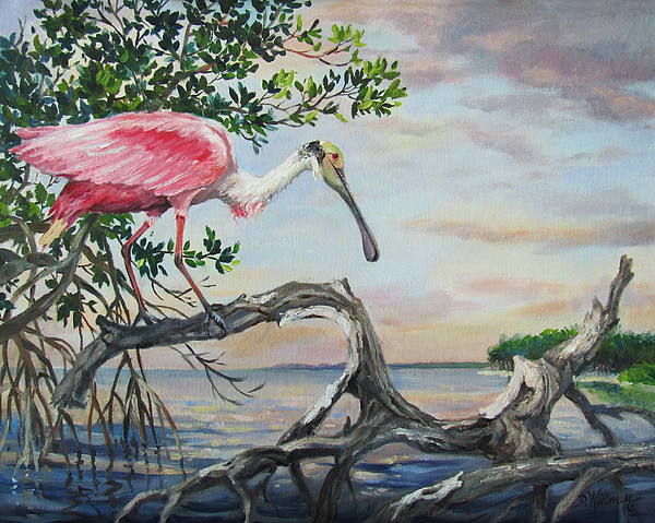 Landscape Painting - Pink Lady by Dianna  Willman