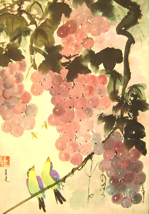 Water Colour Painting - Pink Romance by Lian Zhen