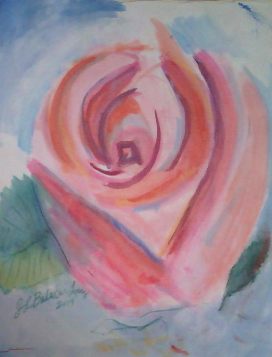 Flowers Painting - Pink Rose by Jamey Balester