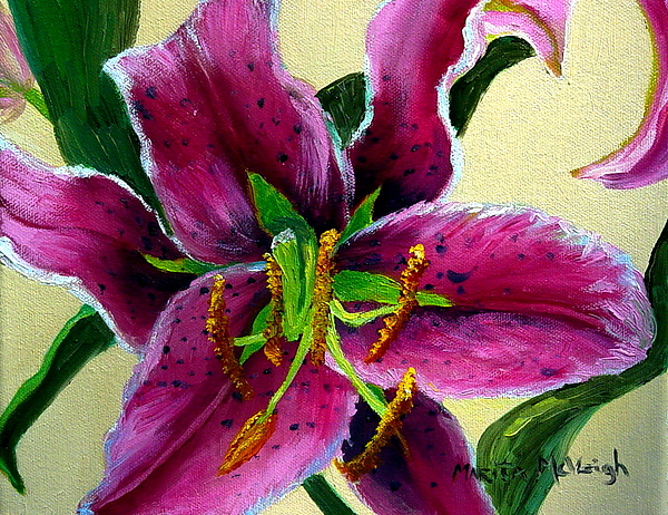 Pink Flower Painting - Pink Tiger by Marita McVeigh