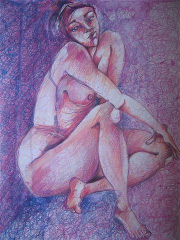 Pinky Drawing by Brigitte Hintner