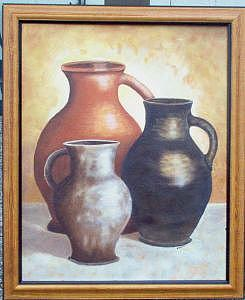 Pitchers Painting by Nancy Waller