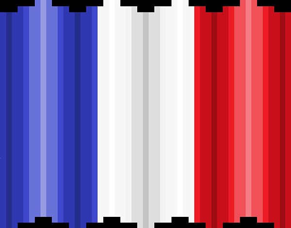 Flag Digital Art - Pixilated Tricolore by Gerald Lynch