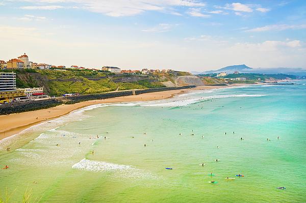 Horizontal Photograph - Plage De La Cote Des Basques, Biarritz, Aquitaine, by John Harper