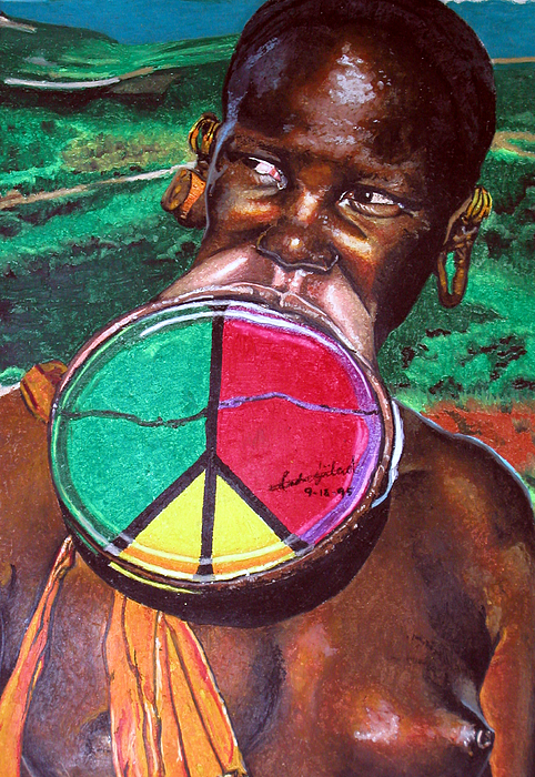 Africa Painting - Plains Of Peace by Andre Ajibade