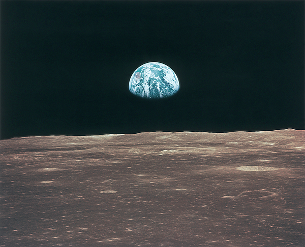 Horizontal Photograph - Planet Earth Viewed From The Moon by Stockbyte