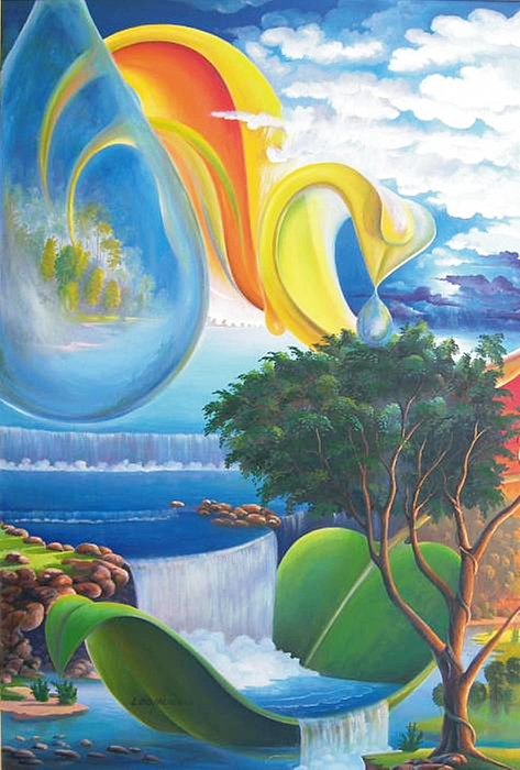 Planet Water - Leomariano Painting by Leomariano artist BRASIL