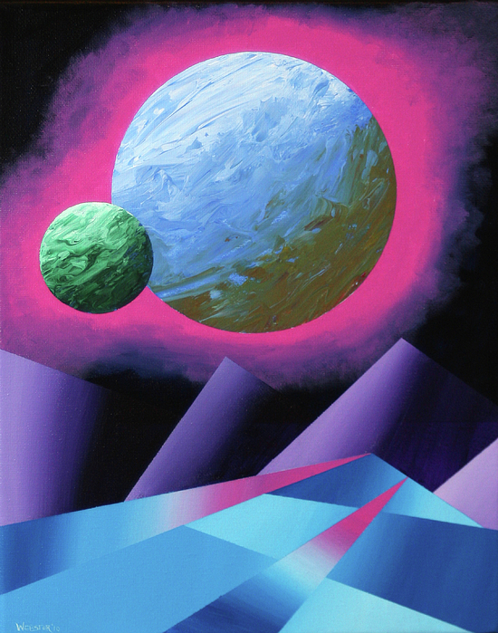 Artwork Painting - Planet X Abstract Landscape Painting by Mark Webster