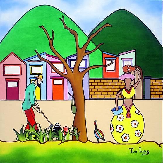 Plantando E Colhendo Painting by THAIS IBANEZ  Tropical Art