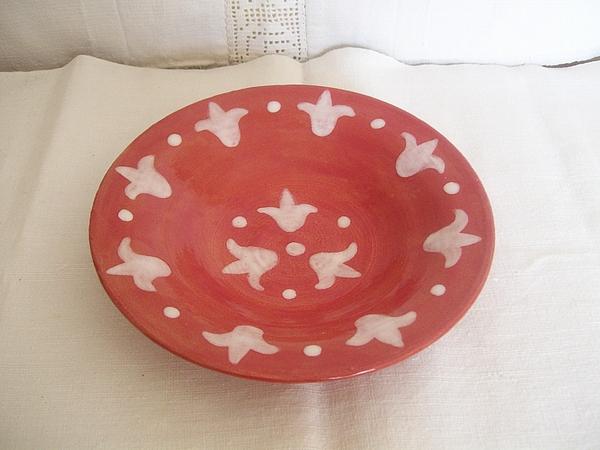 Dinnerware Ceramic Art - Plate Tulips by Monika Hood