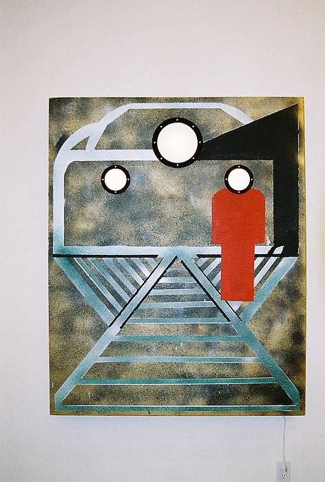 Transit Mixed Media - Platform by Michael Copeland Sydnor