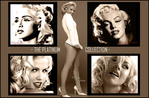 Marilyn Monroe Digital Art - Platinum Collection by Anibal Diaz
