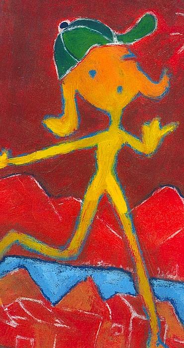 Girl Painting - Play Girl by Ricky Sencion