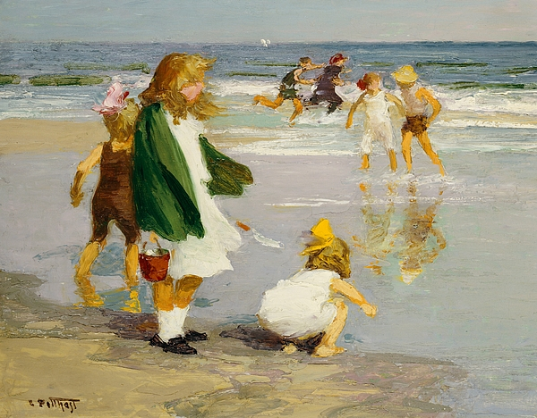 Play Painting - Play In The Surf by Edward Henry Potthast