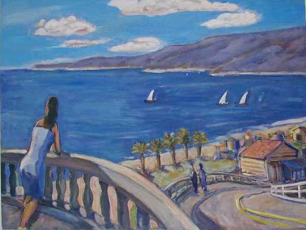 Landscape Painting - Playa Del Rey I - California by William Kairala