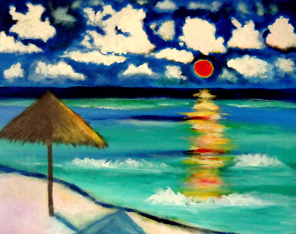 Playa Sol Mexico Painting by Ted Hebbler