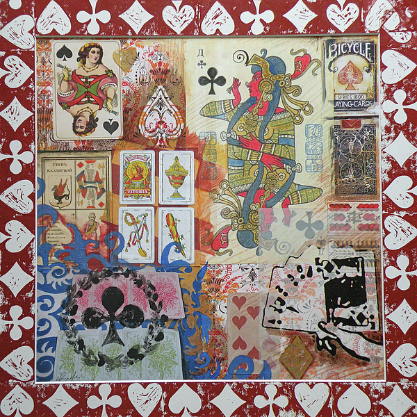 Cards Mixed Media - Playing Cards by Leigh Banks