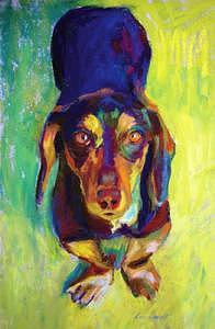 Please - Sold Painting by Barbara Noonan