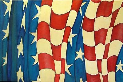 Flag Painting - Pledge Of Freedom  Sold by Carol Kullberg