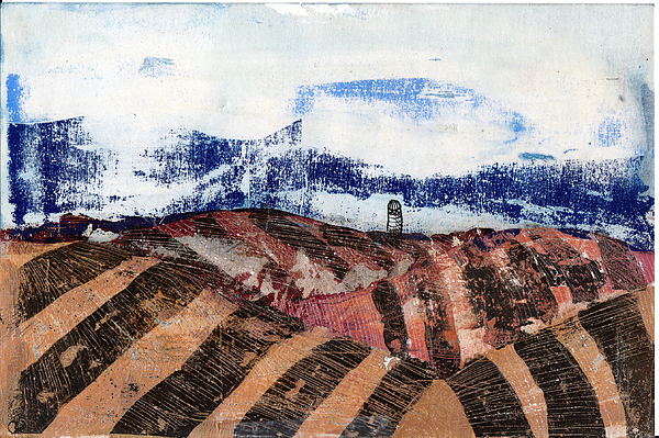 Sky Mixed Media - Plowed Spring by Jame Hayes