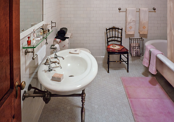 Framed Photograph - Plumber - The Bathroom  by Mike Savad