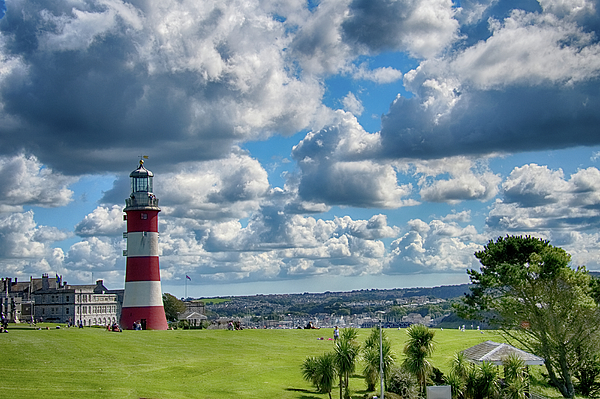 Plymouth Photograph - Plymouth Hoe And Smeatons Tower by Chris Day