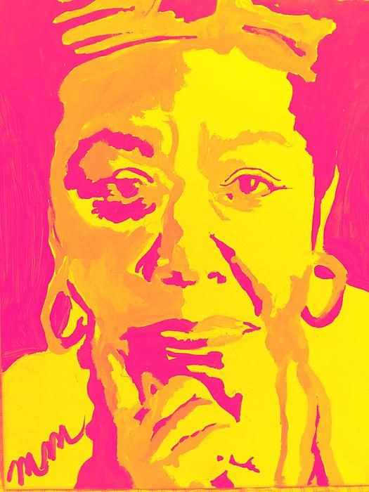 Maya Angelou Painting - Poetically Speaking  by Miriam Moran