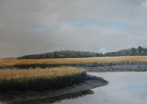 Marsh Painting - Point Comfort by Stanton Allaben
